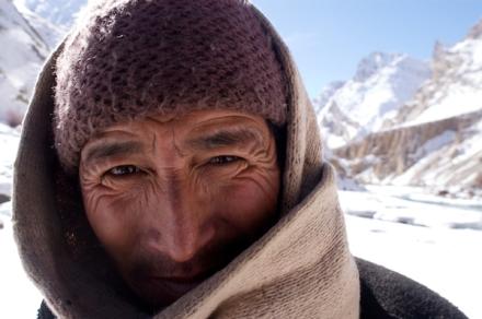 A Porter on the Chadar Trek