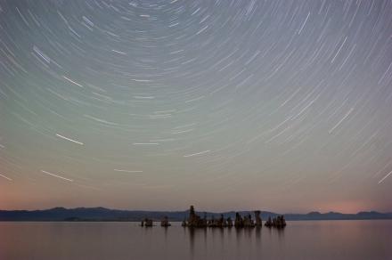 Mono Lake Beneath the Star Wheel
