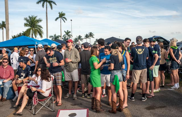 The Notre Dame fans came out in huge numbers