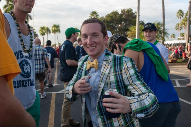 Another leprechaun takes on the fighting Irish pose