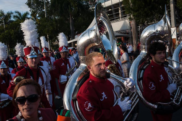 The Bama band came marching through