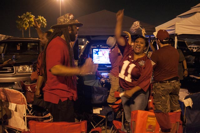 Bama fans continued to party in the 3rd quarter