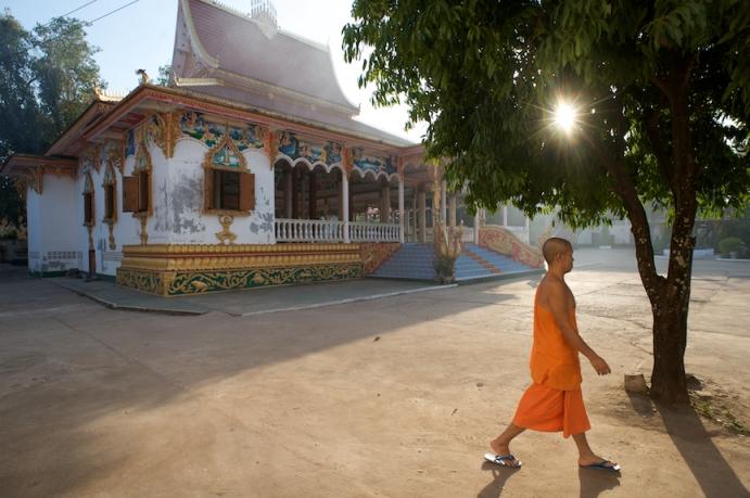 A monk near Wat Si Saket