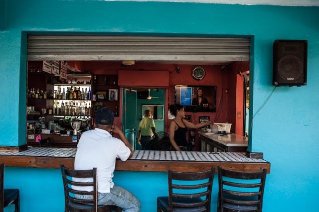 A seaside cafe in Pinones, near San Juan