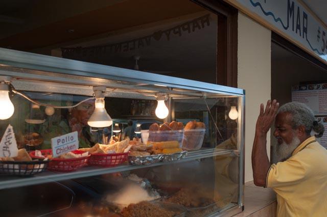 A food vendor in Luquillo