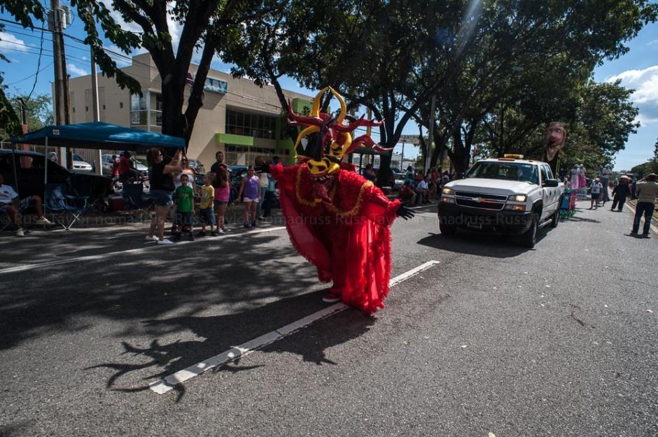 A masked dancer at Carnival