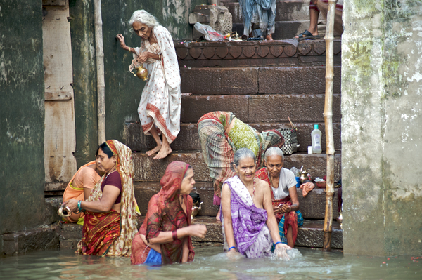 An ancient scene along the Ganges