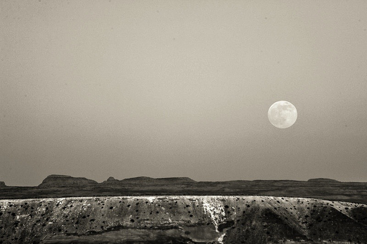 Supermoon, Summer 2013, Bullfrog, Utah