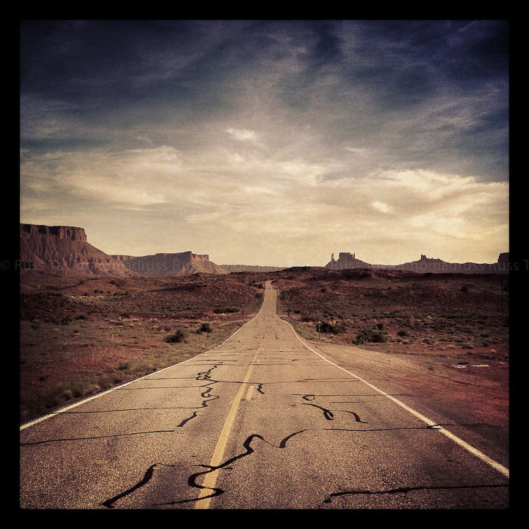 On the road near Moab, Utah