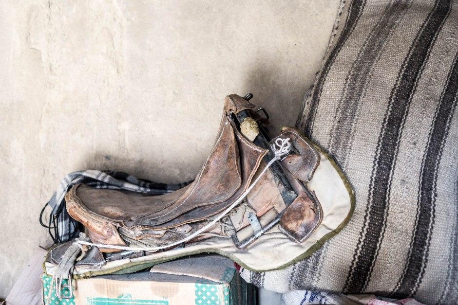 A nomad's saddle